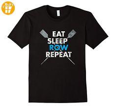 EAT SLEEP ROW REPEAT Crew Rowing Shirt Herren, Größe XL Schwarz (*Partner-Link)