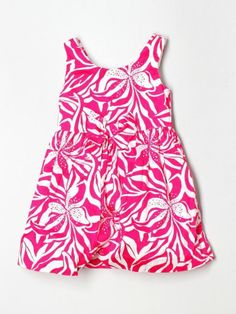 Toddler Girl Lilly Pulitzer Little Linney Sneak a Peak Pink Dress Size 3/3T