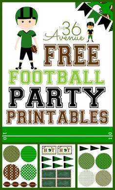 Football Party Free Printables at the36thavenue.com ...It's Football TIME!