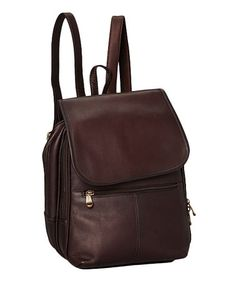 0fe0e7588c2bd Another great find on  zulily! Café Everything Backpack by Le Donne   zulilyfinds Leather