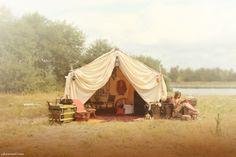 glam camping! by PJ Hummel   #glamcamping #glamping #honeymoon