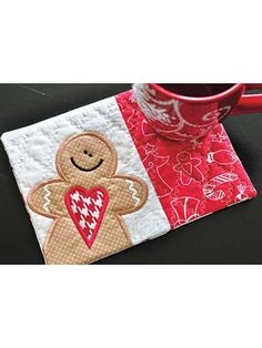 Kimberbell's Holiday & Seasonal Mug Rugs, Vol. 1 Embroidery CD Kimberbell's Holiday & Seasonal Mug Rugs, Vol. Christmas Mug Rugs, Christmas Sewing, Christmas Crafts, Christmas Patchwork, Xmas, Small Quilts, Mini Quilts, Table Runner And Placemats, Table Runners