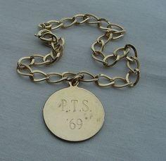 SIGNED JB Charm BRACELET Vintage with ONE Charm PTS 1969 1/20-12KT GF Jewelry