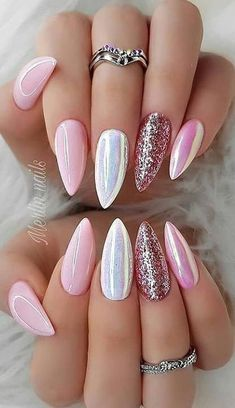 Manicure 44 Stylish Manicure Ideas for 2019 Manicure: How to Do It Yourself at Home! Part 38 44 Stylish Manicure Ideas for 2019 Manicure: How to Do It Yourself at Home! Part manicure ideas; manicure ideas for short nails; manicure ideas come Perfect Nails, Gorgeous Nails, Cute Nails, Pretty Nails, Hair And Nails, My Nails, Oval Nails, Neon Nails, How To Do Nails