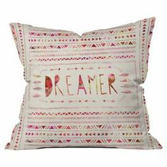 """Featuring a tribal-inspired typographic motif by artist Bianca Green, this eye-catching pillow brings a stylish touch to your sofa or favorite reading nook. Made in the USA for DENY Designs.   Product: PillowConstruction Material: PolyesterColor: MultiFeatures:  Insert includedDesigned by Bianca Green for DENY DesignsMade in the USA Dimensions: 18"""" x 18""""Cleaning and Care: Machine wash"""