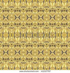 Digital collage technique stylized floral motif decorative geometric seamless pattern design in vibrant yellow and blue tones