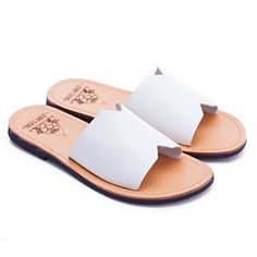 Everyday Elegance Womens Summer Classic Leather Sandals US 10 White *** Read more reviews of the product by visiting the link on the image.