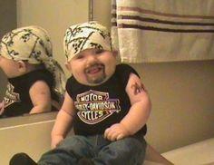 Baby-Faced Biker