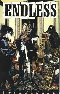 """""""Endless... Family Snap Shot, or Still Life With Cats"""" by Mike Dringenberg ~ sandman, morpheus, neil gaiman"""