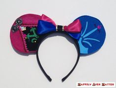 Anna Inspired Ear Headband designed by Happily Ever Hatter on Etsy!!!  Perfect for a Frozen birthday party, a Disneybound outfit or meeting Anna and Elsa at Walt Disney World or Disneyland!!!
