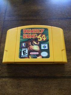 Donkey Kong 64 (Nintendo for sale online Nintendo 64, Nintendo Consoles, Donkey Kong 64, Lunch Box, Childhood, Ebay, Video Games, Nice, Infancy