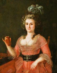 1790s | Josè Francisco Xavier de Salazar y Mendoza (Mexican-born Louisiana artist, 1750–1802) | Senora Don Carlos Trudeau