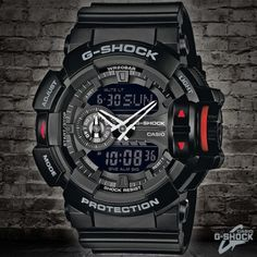 Casio G-Shock Black Alarm Chronograph GA-400-1BER
