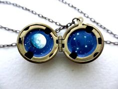 Libra Constellation Locket  Personalized Jewelry  by kharaledonne