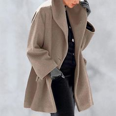 New Warm Fashion Multi-Color Shawl Collar Coat – linenwe jacket over dress coat outfit casual coat work coat Estilo Jeans, Loungewear Set, Office Ladies, Warm Coat, Coat Dress, Lace Dress, Mode Style, Coats For Women, Mantel