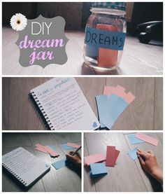 DIY jar filled with your dreams!! #DIY #dream #masonjar #idea #summer