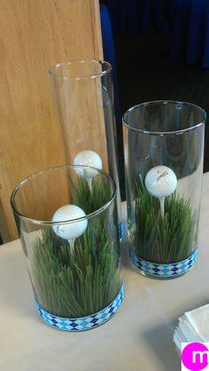 Golf theme table/buffet decor