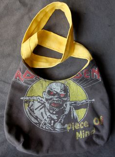 Iron Maiden - Upcycled Rock Band T-shirt Purse - OOAK. $25.00, via Etsy.