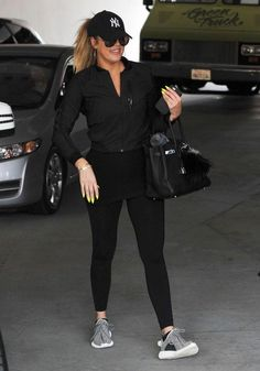 The ultimate gym bunny, Khloe Kardashian, stays stylish while working out thanks to a MASSIVE fitness closet - click to see the pics!