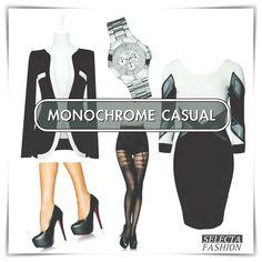 TIP NA PONDELOK - MONOCHROME KOMBINÁCIA BY @selectafashion #dnesnosim #móda #sakoašatydopráce #inspirujsa #fashion #monochrome #beunique#iweartoday Office Wear, Monochrome, The Selection, Casual Outfits, Unique, Polyvore, How To Wear, Inspiration, Image