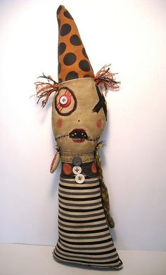 Great Halloween art doll! #junkerjane