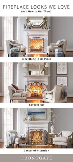 Fireplace season is here—which means your mantel is about to receive a lot more attention. Here's how we're giving the hearth a fresh look. Fireplace Redo, Fireplace Design, Living Room Decor, Living Spaces, Interior Decorating, Interior Design, Decorating Ideas, Small Room Bedroom, Hearth