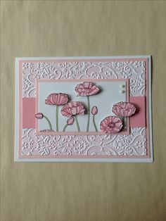 Stampin' Up! Pleasant Poppies shower or birthday card