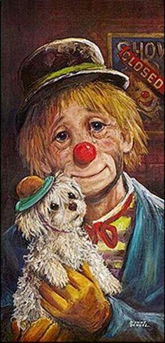 Clown painting by Dianne Dengel Scary Clowns, Creepy, Illustrations, Illustration Art, Clown Paintings, Pierrot Clown, Vintage Clown, Vintage Carnival, Vintage Halloween