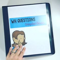 WH Questions can be hard for students who are non-verbal. This adapted binder is.-- WH Questions can be hard for students who are non-verbal. This adapted binder is perfect for students in special education or for speech therapy! Life Skills Activities, Special Education Activities, Autism Education, Autism Activities, Special Education Classroom, Language Activities, Elementary Education, Education Slogans, Education Galaxy