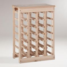 One of my favorite discoveries at WorldMarket.com: Pine 24-Bottle Wine Rack Use this to hold my scarves. Need another