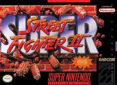 """スーパーストリートファイターII """"Super Street Fighter II"""" Super Nintendo, 1993"""