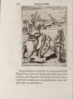Bacco trionfatore. - 'Images Depicting the Gods of the Ancients' by Vincenzo Cartari was first published in 1556.