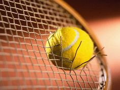 Ive done this before, only with a golf ball, not a tennis ball. Tennis Live, Le Tennis, Tennis Elbow, Sport Tennis, Tennis Match, Gilles Simon, Tennis Wallpaper, Robin, The Skinny Confidential