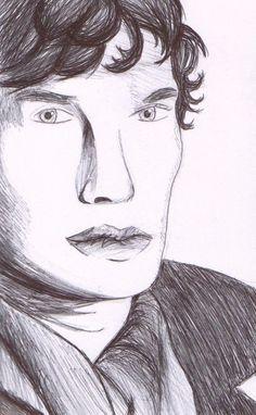 Sherlock Sherlock Drawing, Bad Fan Art, Drawings, Sketches, Drawing, Portrait, Paintings, Painting, Draw