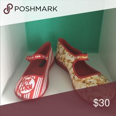 Hot Chocolate Design Popcorn Colorful Mary Janes style. Popcorn print Hor Chocolate Shoes Flats & Loafers