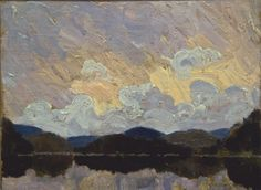 This Tom Thomson painting was found at a garage sale and bought, together with a painting by Fred Varley, for just $100. The Thomson painting, shown here after being cleaned, is estimated to go for between $150,000 and $250,000 at auction.