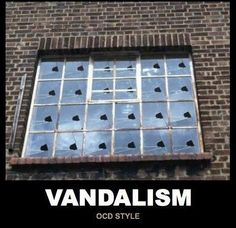 Vandalism is NOT funny, but the caption is...
