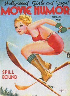 vintage Movie Humor magazine cover, 1937