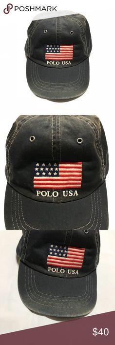 41f5bdb5aa9f Vintage Polo USA Flag Hat Vintage, Polo Ralph Lauren Polo USA big flag Hat.