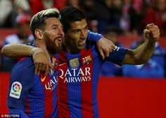 Suarez scored the winning goal in the 2-1 victory after Lionel Messi equalised for the Catalans