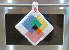 knitted potholder