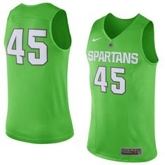 c1d85af0a  45 Michigan State Spartans Nike 2016 Hyper Elite Disruption Authentic  Basketball Jersey - Neon Green