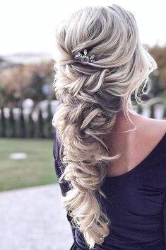 boho wedding hairstyles braided half up half down hair by zolotaya