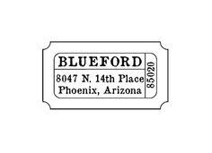 Movie theater ticket stub return address custom by terbearco, $29.99