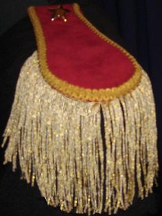 Mens Military Style Red Suede Look w/Gold Trim by royalcostumes