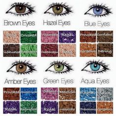 From stunning shades of eye shadow to the perfect foundation color to match your skin tone, Younique has the cosmetics you need to stay on top of your game.Younique Minerals Pigment Powders to enhance your peepers+ Ideas for Eye Color Meaning Includi All Things Beauty, Beauty Make Up, Eye Color Chart, Aqua Eyes, Green Eyes Pop, Color Meanings, Skin Makeup, Makeup Inspiration, Makeup Ideas