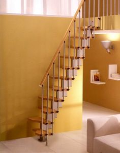 Fascinating staircase ideas for small spaces / tiny house...stairways design & decor (narrow, spiral, vertical, compact, loft, etc)