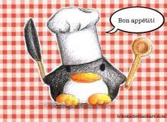 Cooking Penguin by B-Keks on DeviantArt Pencil Drawings Of Animals, Cute Cartoon Drawings, Animal Sketches, Disney Drawings, Easy Drawings, Pinguin Drawing, Kawaii, Colour Pencil Shading, Cute Drawlings