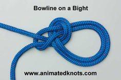 Animation: Bowline on a Bight Tying (Boating)