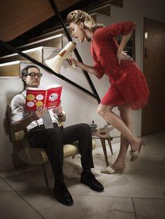 "Uprising Book Advert for Newsweek ""Mad Men"" issue  Shot by Carl Johan Paulin Sweden"